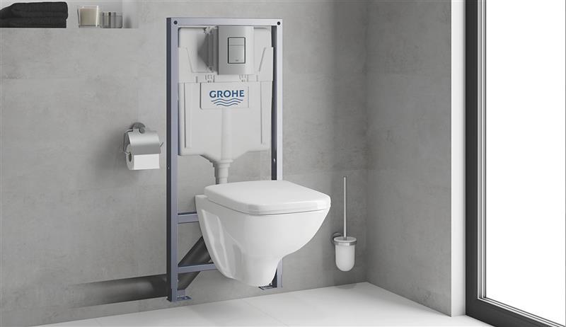 Rapid SL med vegghengt toalett og trykkplate